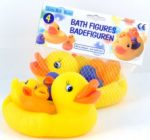 Badefiguren Enten-Mutter mit 3 Küken