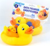 Badefiguren Enten-Mutter mit 3 Küken